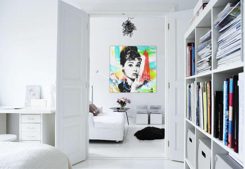 Audrey Hepburn színes vászonkép dekoráció