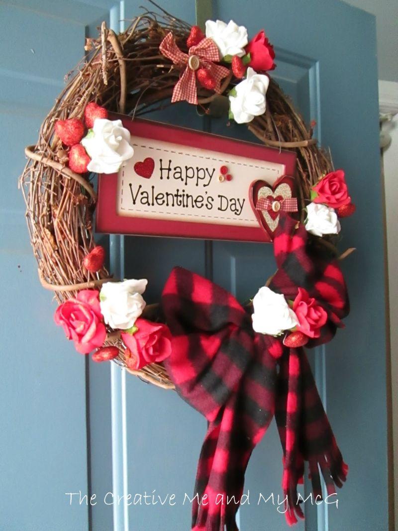 Valentin napi ajtódekoráció