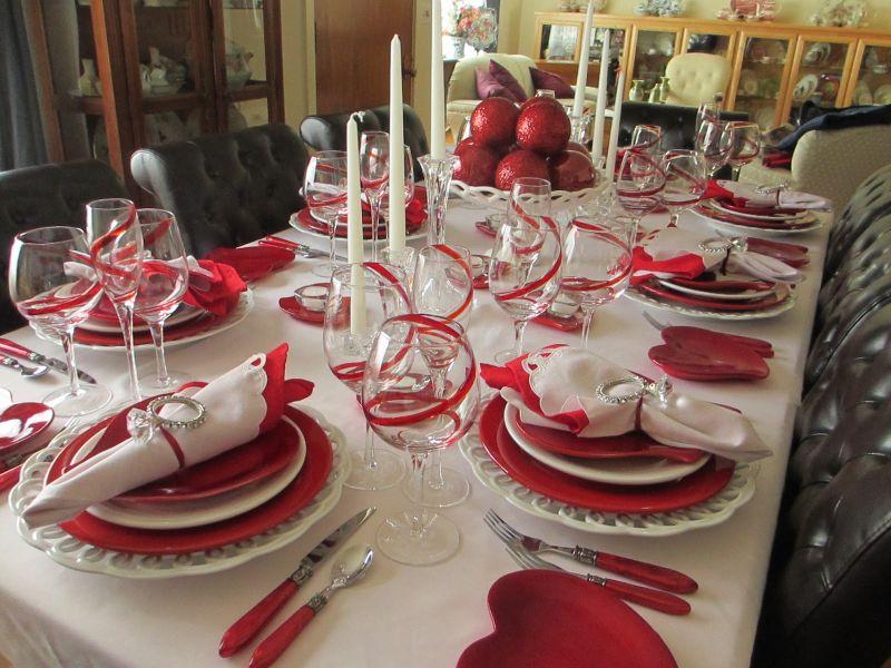 Asztaldekoráció Valentin napra