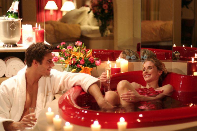 Valentin napi közös fürdés
