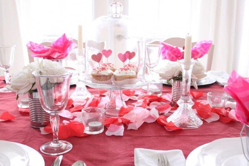 Romantikus Valentin napi dekoráció