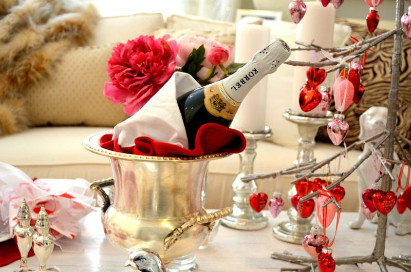 Valentin napi pezsgő