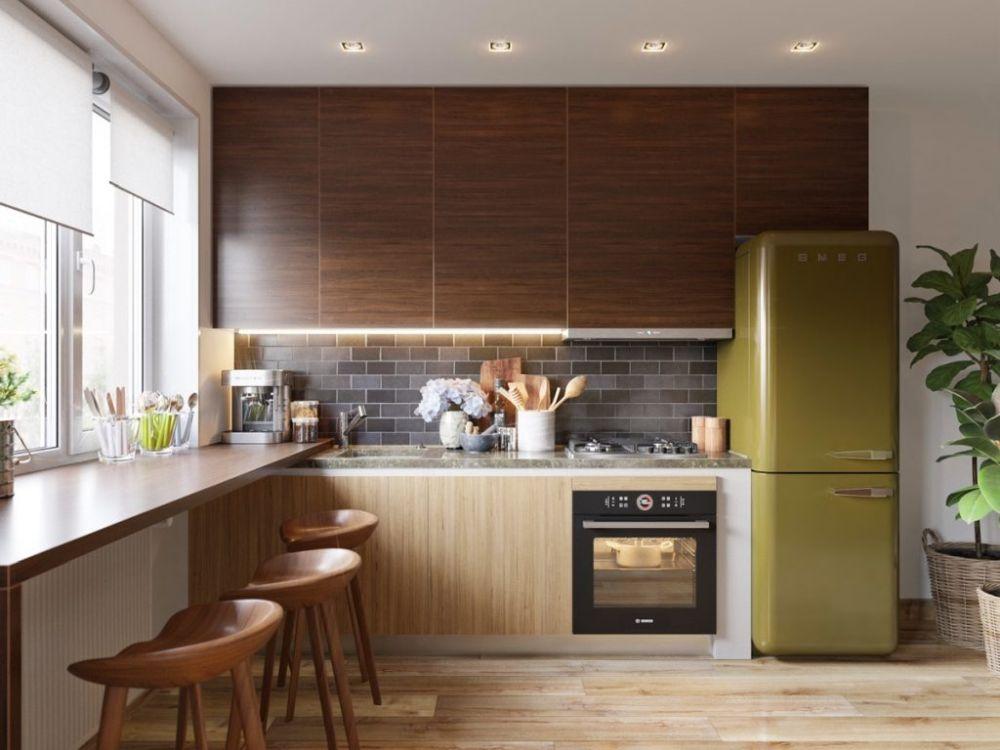 Egyszerű modern kis konyha ötlet