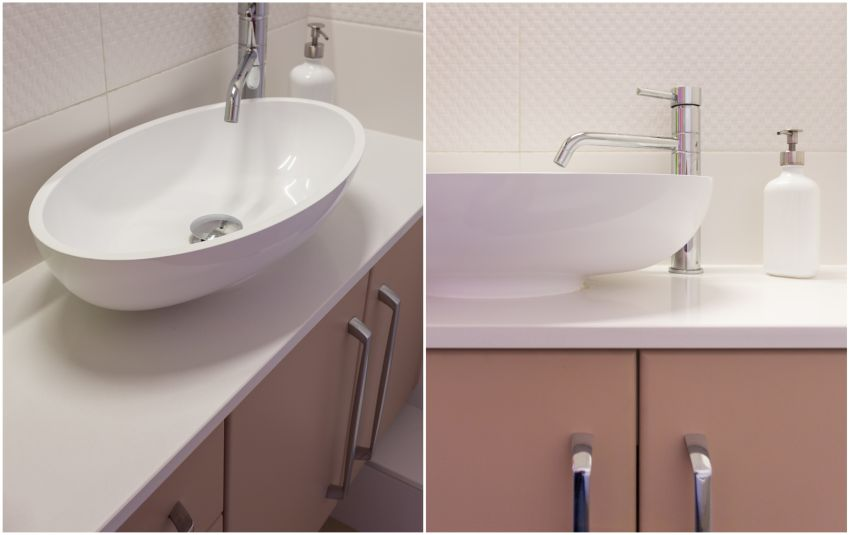 Design fürdőszoba kis irodához