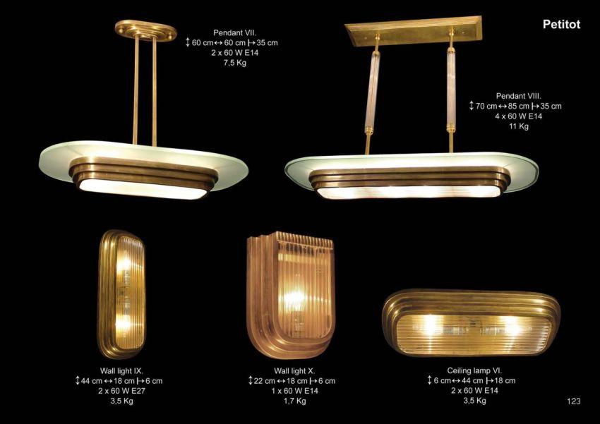 Art deco lámpák a Patinás Lámpától