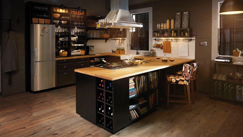 Ikea konyhabútor kép fekete