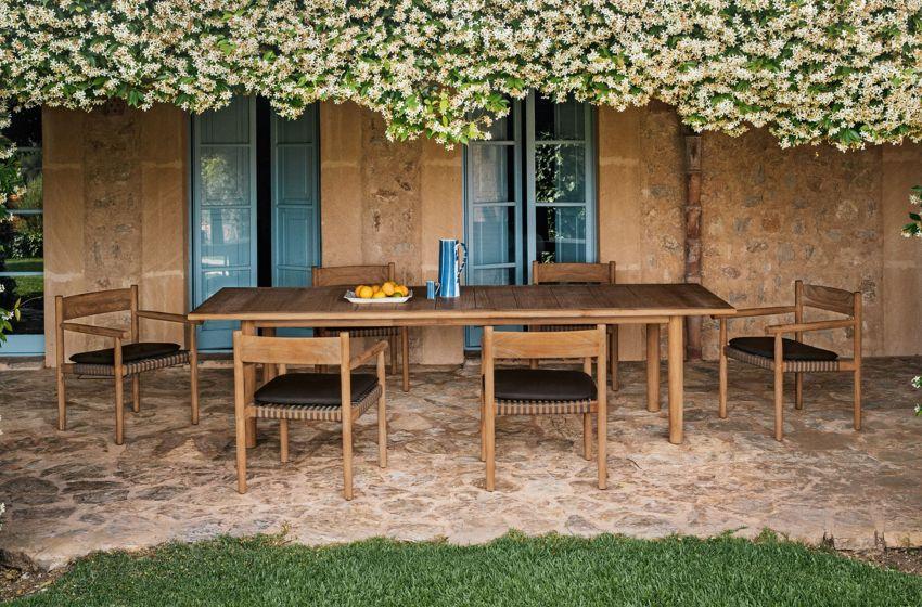 Vintage bútorok teraszra és futónövények