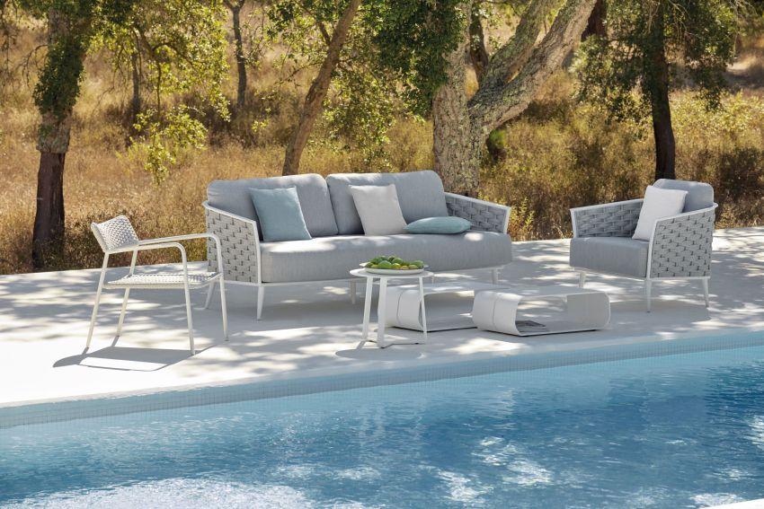 Alumínium és fonott műrattan bútorok