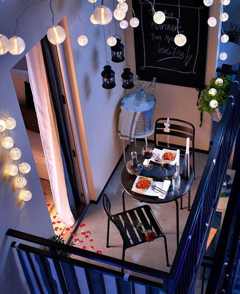 Lampion dekoráció erkélyre balkonra