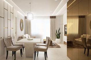Első kerületi lakás belsőépítészeti újratervezése modern art deco stílusban