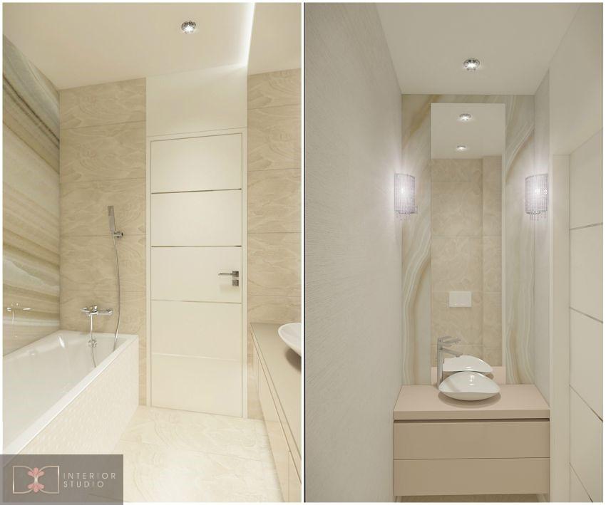 Modern art deco fürdőszoba onyx fal
