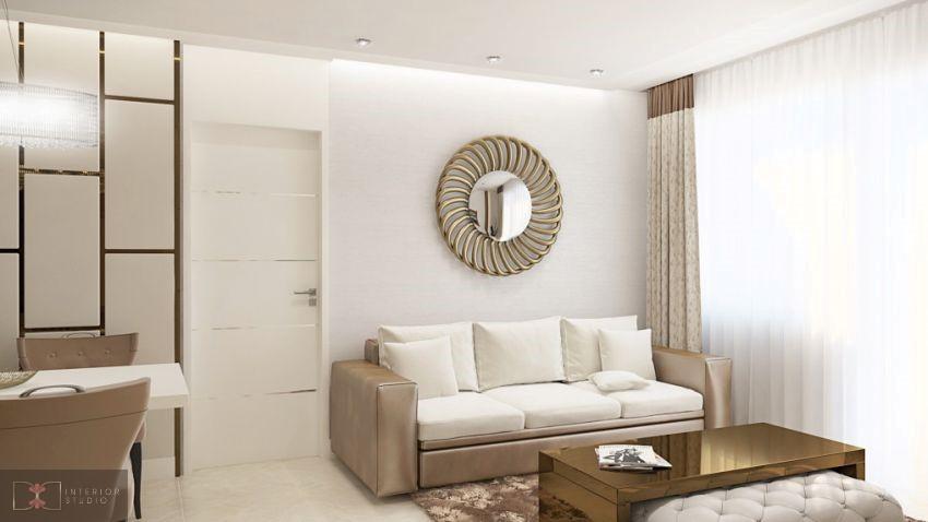 Dóró Judit lakberendező modern kanapé a nappaliban