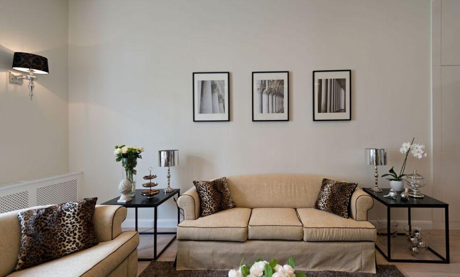Elegáns fekete-fehér lakásdekoráció