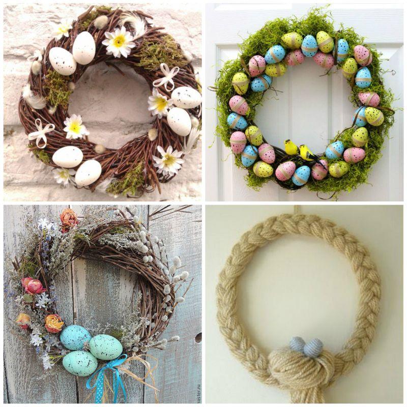 Ajtódísz húsvéti és tavaszi hangulatban