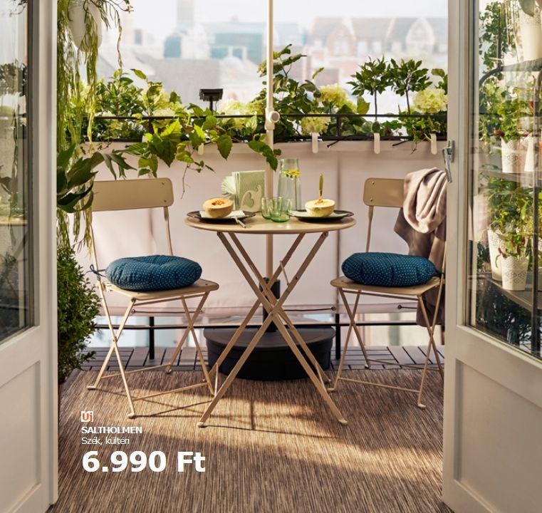 Összecsukható Ikea szék erkélyre