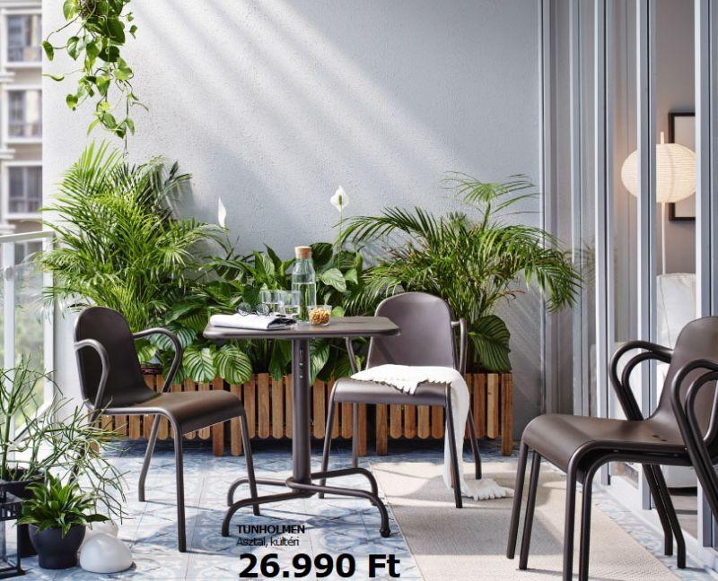 Ikea műanyag kerti szék és asztal