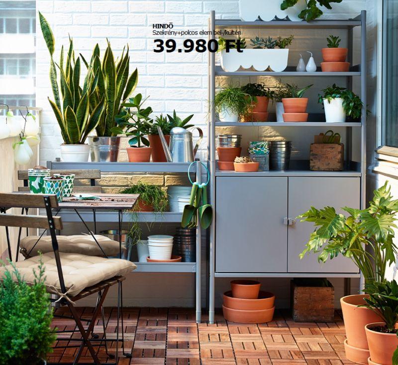 Kültéri Ikea szekrény polcos elemmel