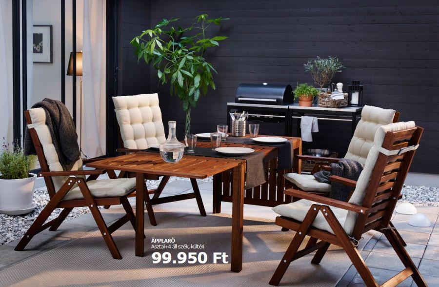 Kerti Ikea bútor szett barna