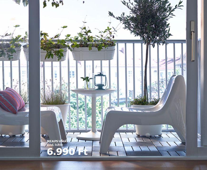 Ikea fehér kerti műanyag design szék
