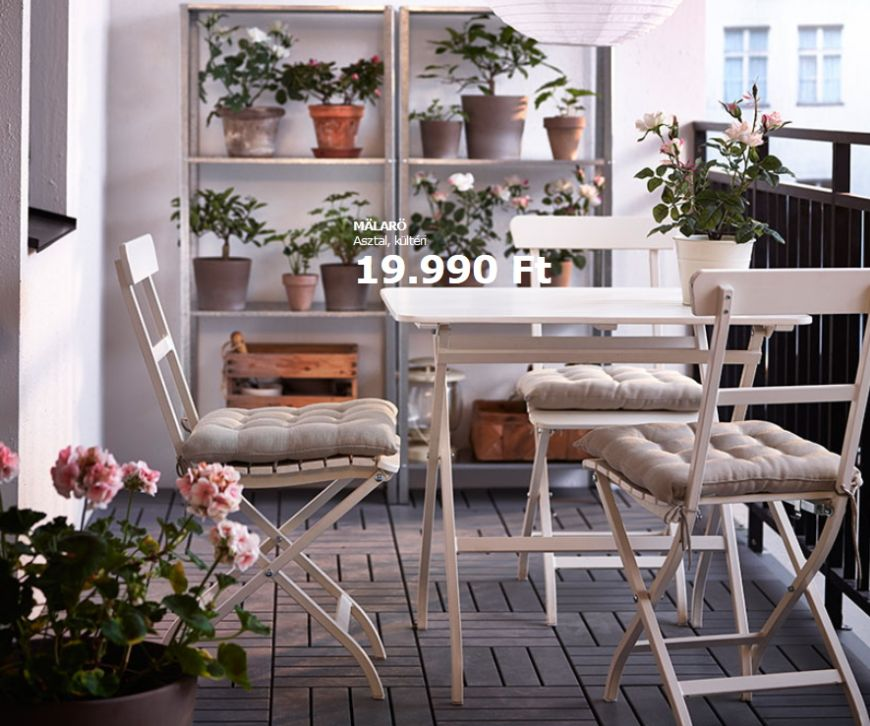 Teraszbútor az Ikeából árakkal