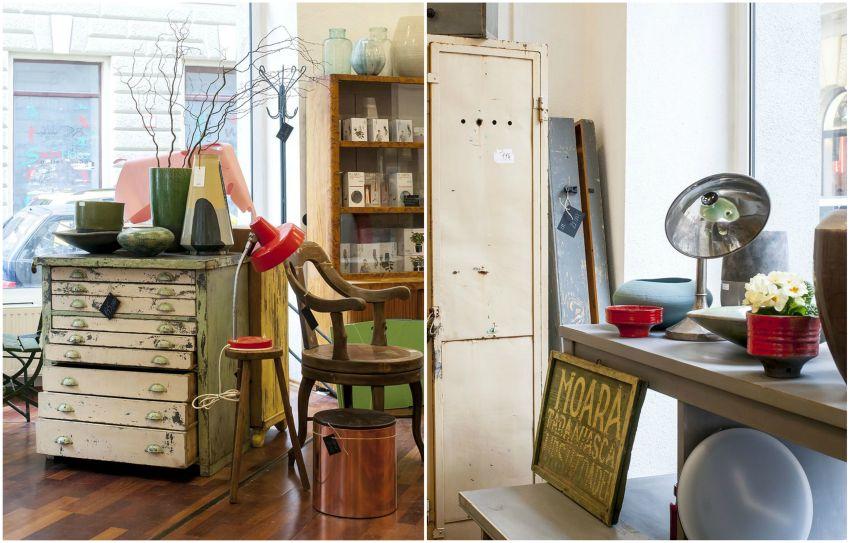 Projekt Showroom 2017 tavaszi nyitás vintage bútorraktár