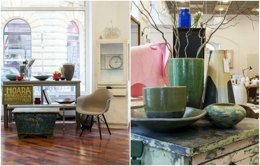 Kerámia, szék, asztal