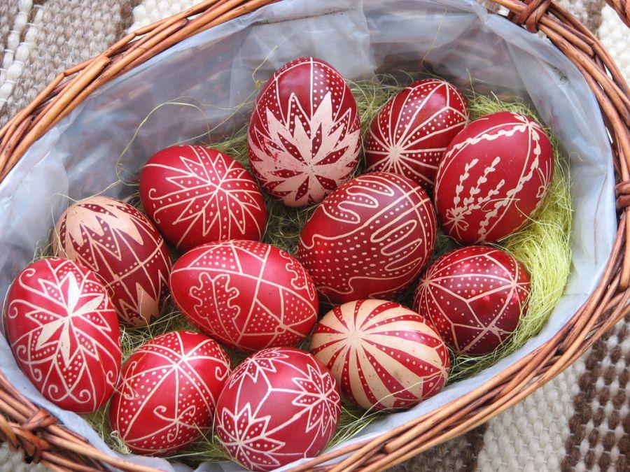Jellegzetes gyimes húsvéti tojás