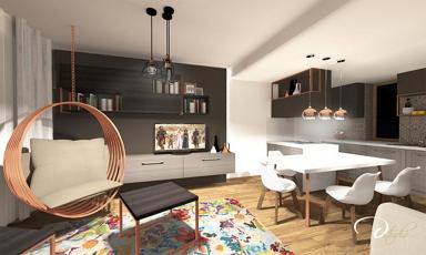 70 m2-es lakóparki lakás lakberendezési tervei a győri D-Stúdiótól