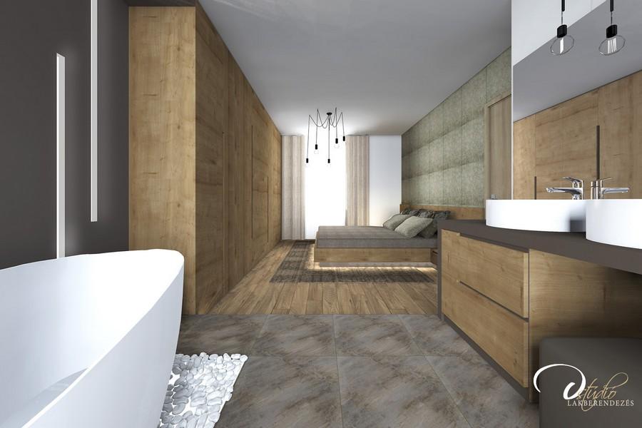 Fürdőszoba hálószobával együtt