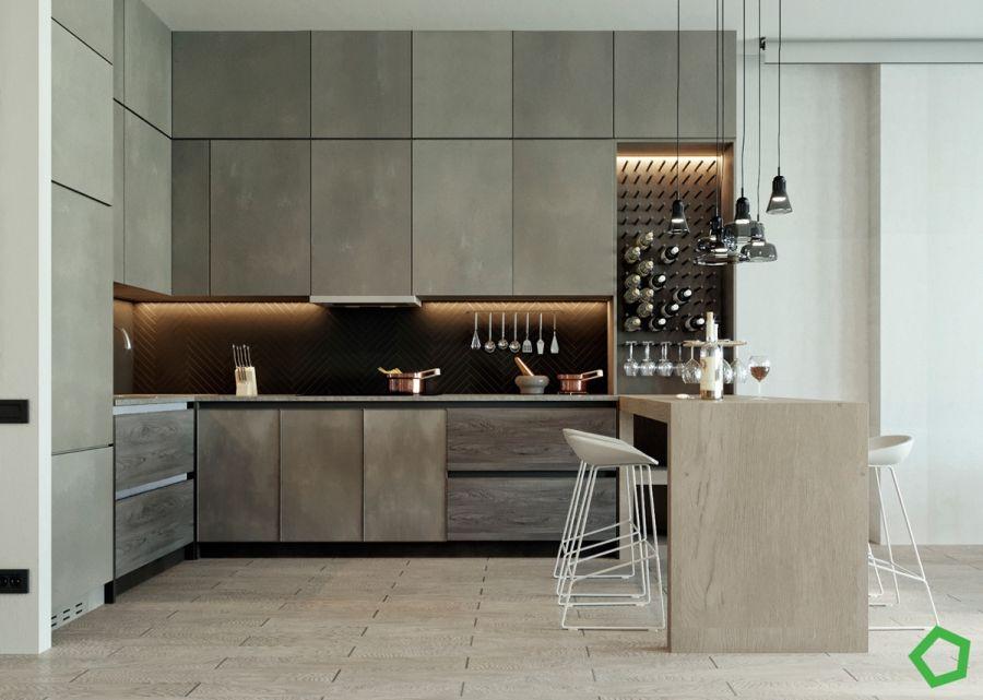 Modern konyha fogantyúk nélkül