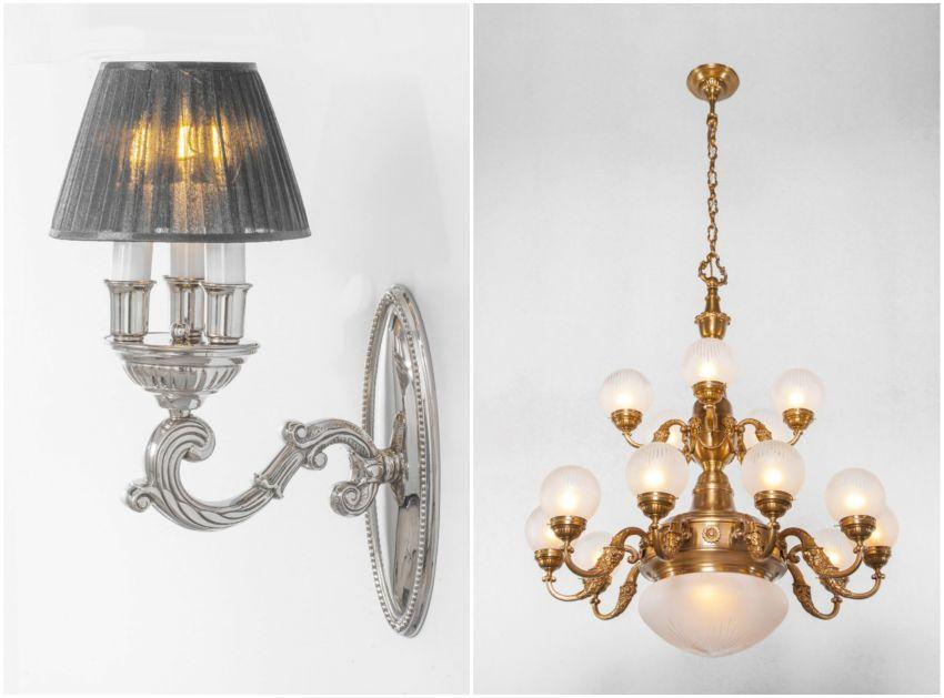 Barokk klaszikus lámpa a Patinás Lámpától