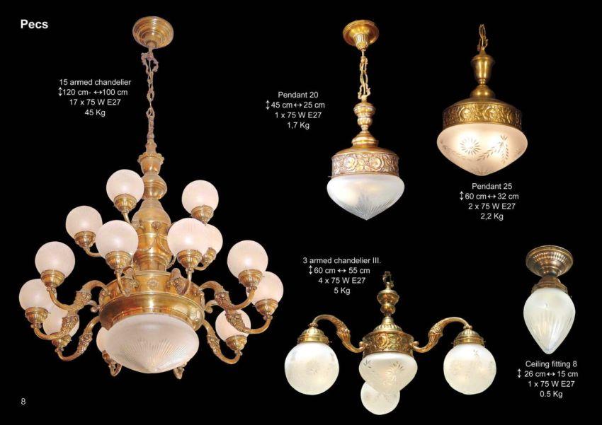 Pécs klasszikus Patinás lámpacsalád