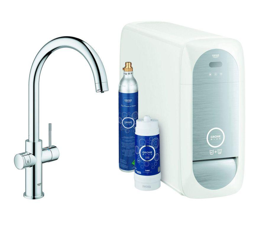 a GROHE Blue Home konyhai vízszűrő rendszer