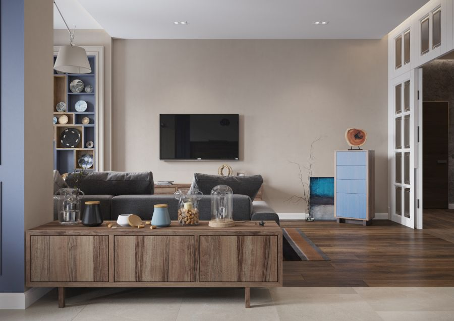 Csak egy tv a nappali falán