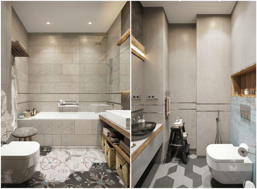 Modern fürdőszoba lakberendezés