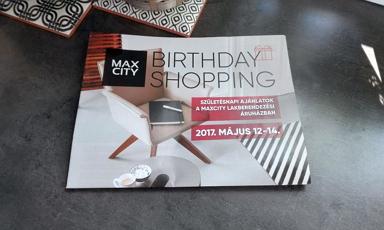 Születésnapi ajánlatok a MAXCity lakberendezési áruházban