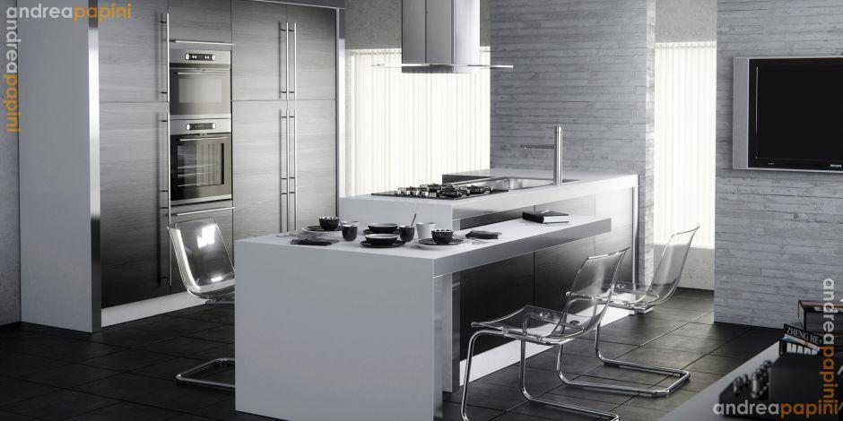 Beton színű konyhabútor