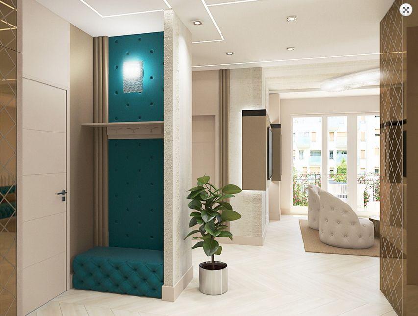 Egyedi előszoba terv Dóró Judit belsőépítész, lakberendező