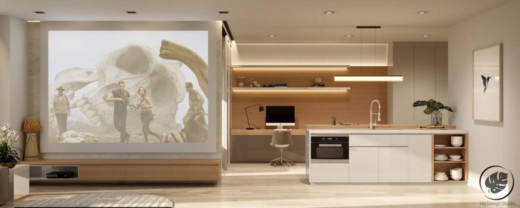 A tévé elé lehúzható projektor vászon