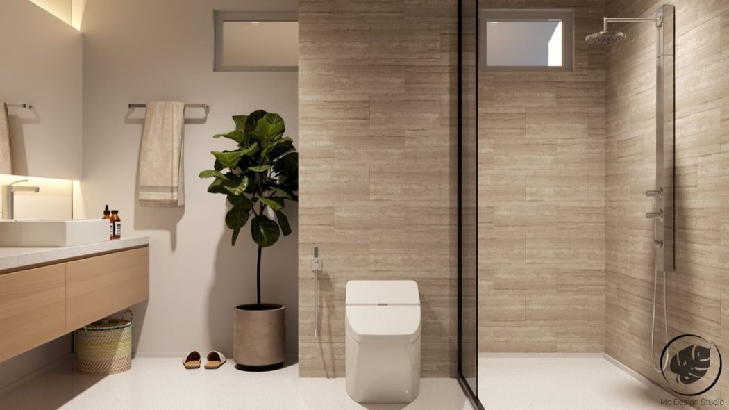 Minimalista fürdőszoba terv