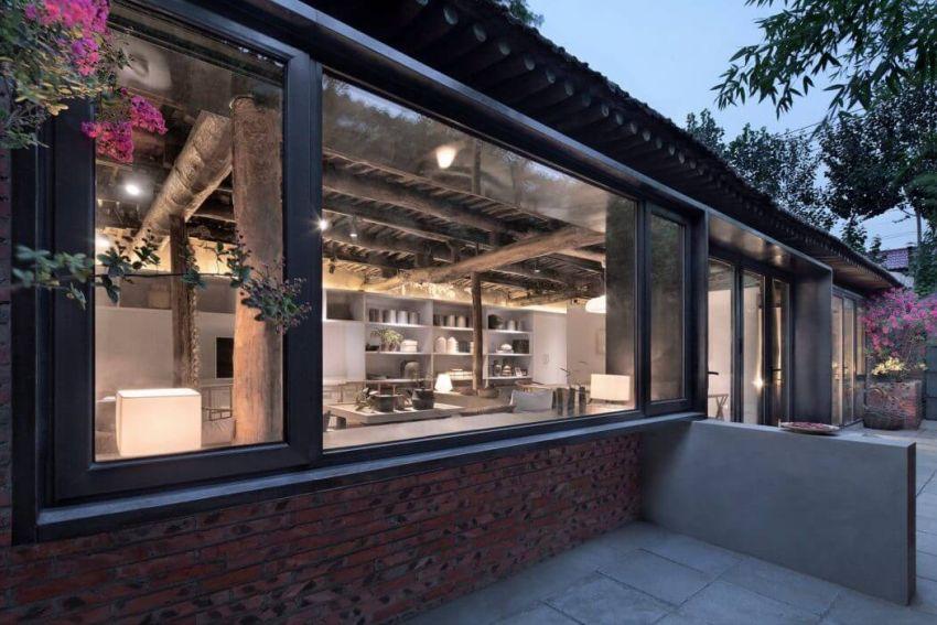 Modern kínai parasztház és udvar