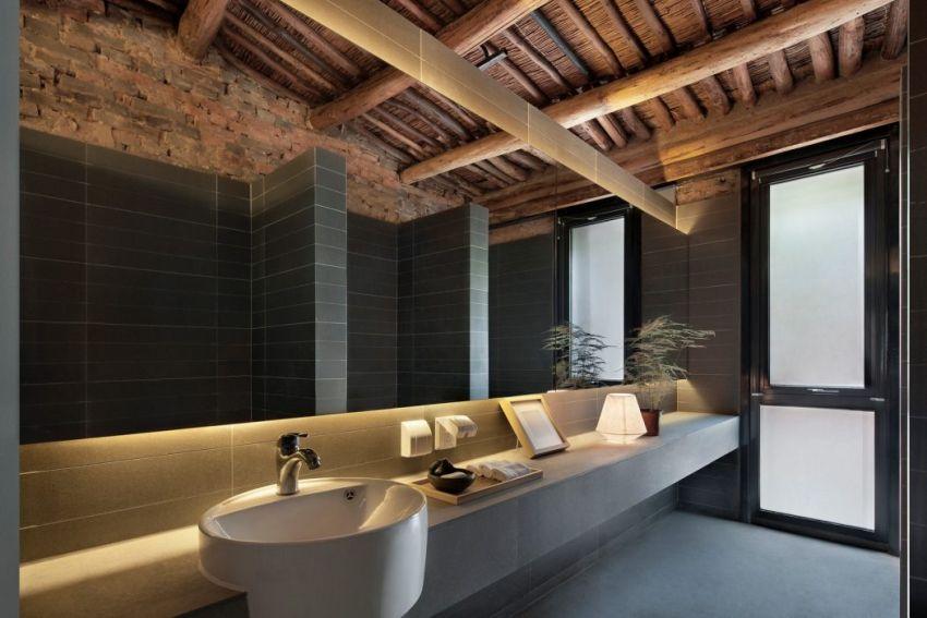 Ázsai lakberendezés mosdópult a fürdőszobában