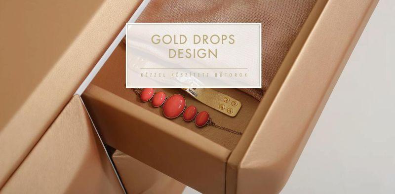 Gold Drops Design egyedi bútor