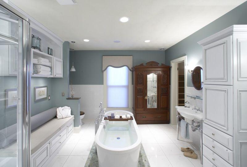 Kevés burkolat használata a fürdőszobában