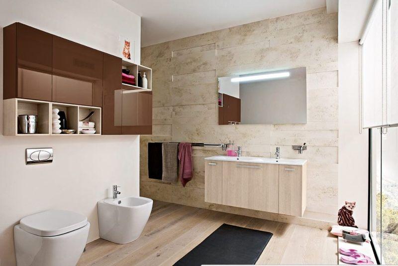 Mészkő burkolat fürdőszobában