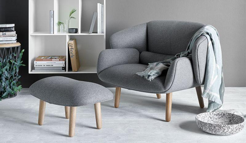 BoConcept Fusion fotel és lábtartó