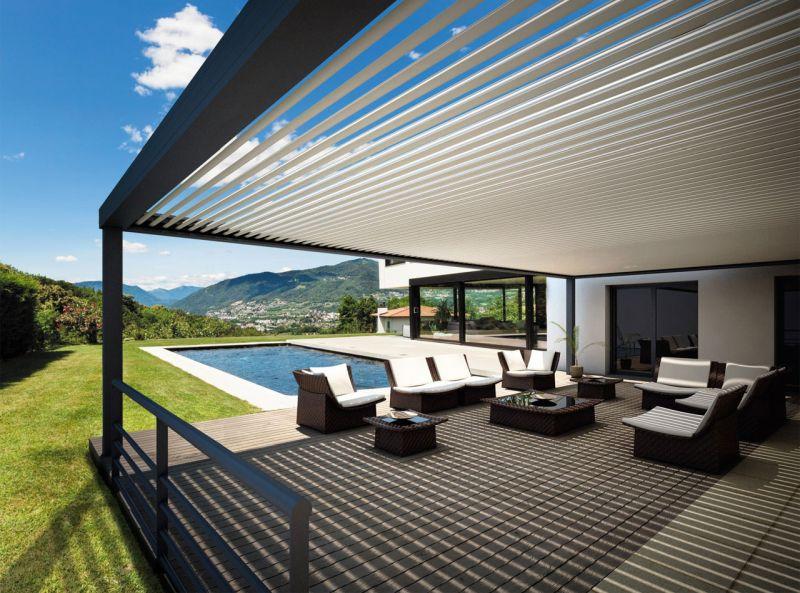 Bioklimatikus pergola luxus árnyékoló
