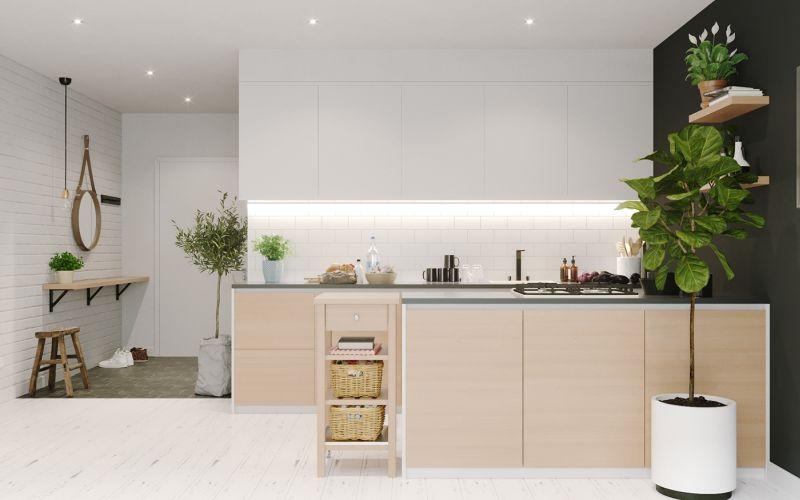 Egyszerű modern kis konyhabútor