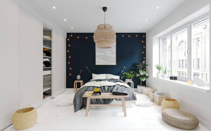 Skandináv hálószoba berendezés ötlet