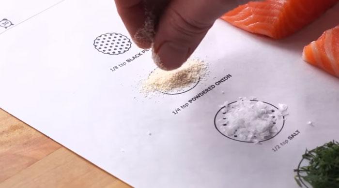 Lazac Ikea előre megrajzolt sütőpapíron